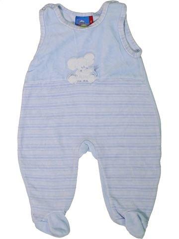 Pyjama 1 pièce garçon TOPOLINO bleu 1 mois hiver #1305506_1