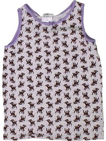 Camiseta sin mangas niña H&M blanco 8 años verano #1305526_1