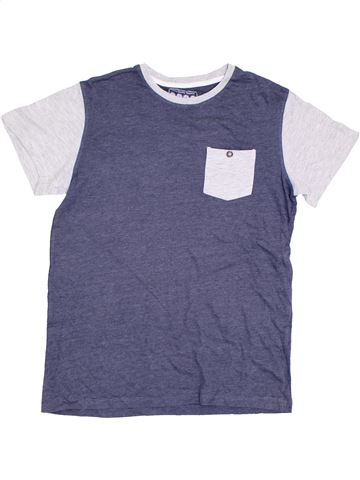T-shirt manches courtes garçon SANS MARQUE bleu 13 ans été #1305677_1