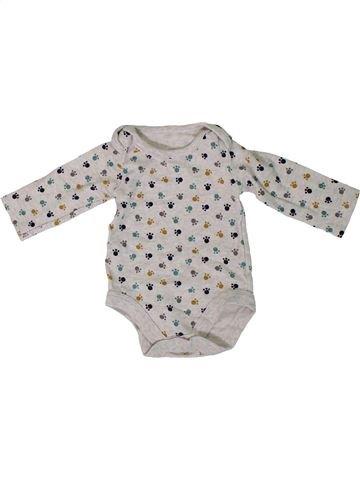 T-shirt manches longues garçon TU gris 3 mois hiver #1305759_1