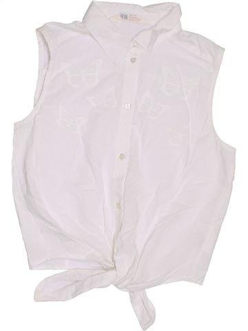 Blusa de manga corta niña H&M blanco 14 años verano #1305827_1