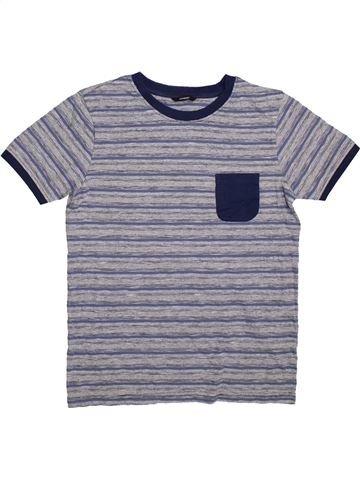 T-shirt manches courtes garçon GEORGE gris 14 ans été #1305860_1