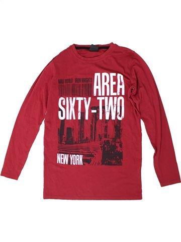 T-shirt manches longues garçon DOGNOSE rouge 14 ans hiver #1306050_1