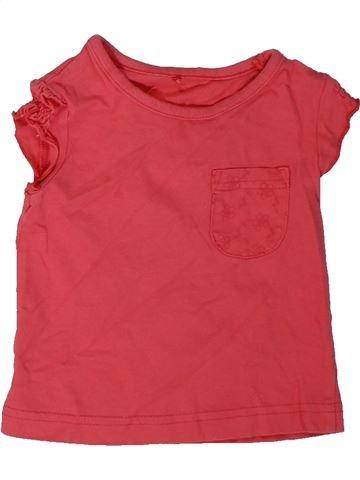 T-shirt manches courtes fille GEORGE rose 12 mois été #1306139_1