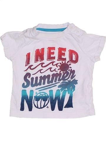 Camiseta de manga corta niño F&F blanco 6 meses verano #1306188_1