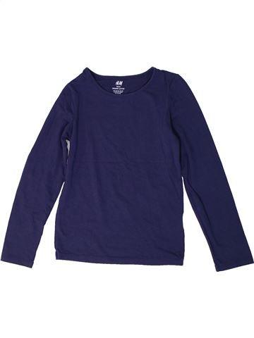 Camiseta de manga larga niña H&M azul 8 años invierno #1306312_1