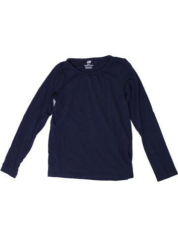 T-shirt manches longues fille H&M bleu 8 ans hiver #1306345_1