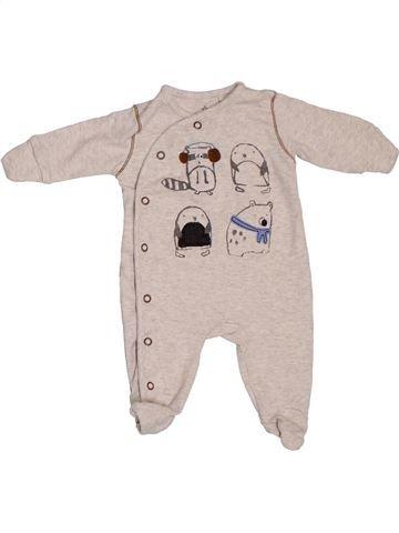 Pyjama 1 pièce garçon NEXT rose 1 mois été #1306408_1
