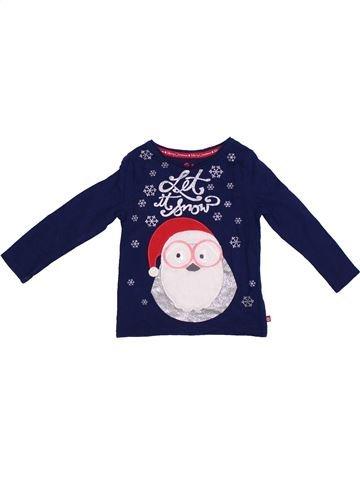 T-shirt manches longues fille F&F bleu 2 ans hiver #1306419_1