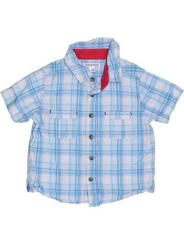 Camisa de manga corta niño VERTBAUDET azul 2 años verano #1306424_1