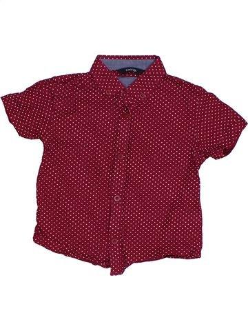 Camisa de manga corta niño GEORGE violeta 3 años verano #1306527_1