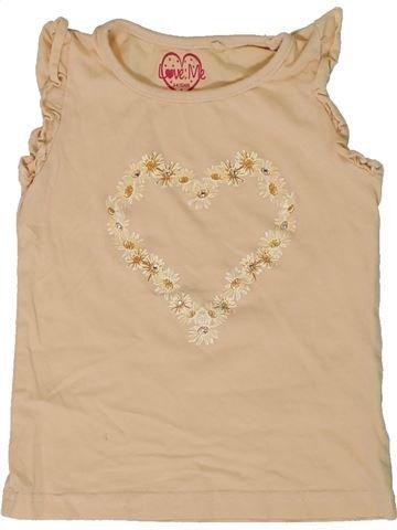 Camiseta sin mangas niña LOVE ME beige 4 años verano #1306719_1