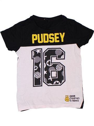T-shirt manches courtes garçon GEORGE blanc 8 ans été #1306822_1