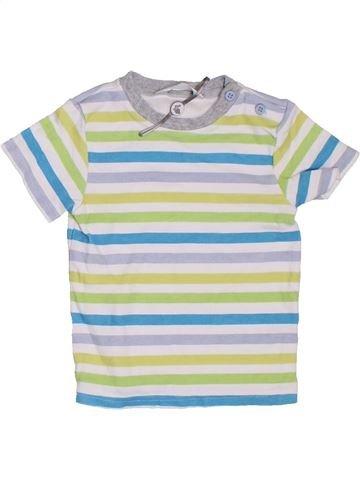 T-shirt manches courtes garçon M&CO blanc 18 mois été #1307475_1