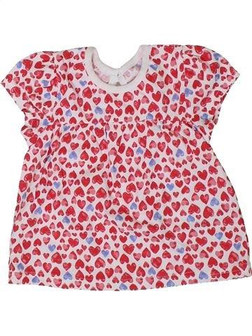 Camiseta de manga corta niña GEORGE rosa 3 meses verano #1307486_1