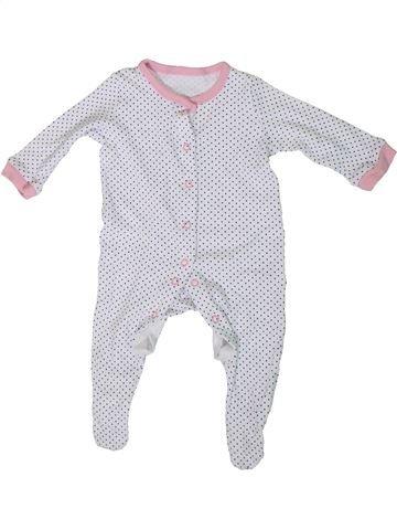 Pyjama 1 pièce fille PEP&CO blanc 3 mois été #1307716_1