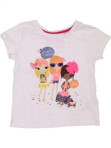Camiseta de manga corta niña BLUEZOO blanco 3 años verano #1307772_1