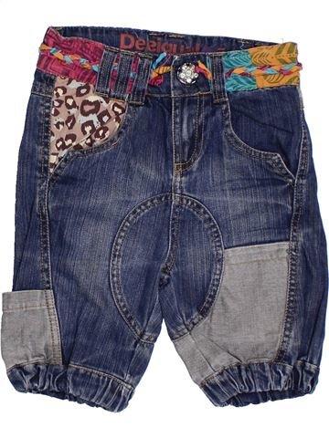 Pantalón corto niña DESIGUAL azul 6 años verano #1308117_1
