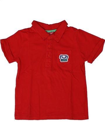 Polo de manga corta niño DPAM rojo 2 años verano #1308184_1