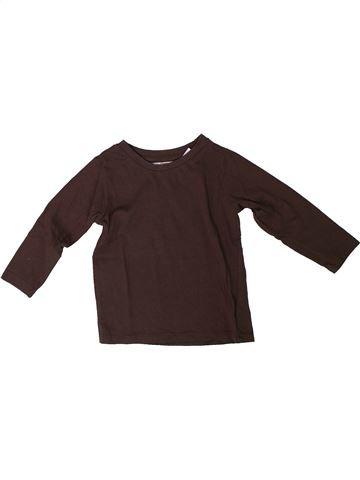 Camiseta de manga larga niño LA REDOUTE CRÉATION marrón 18 meses invierno #1308206_1