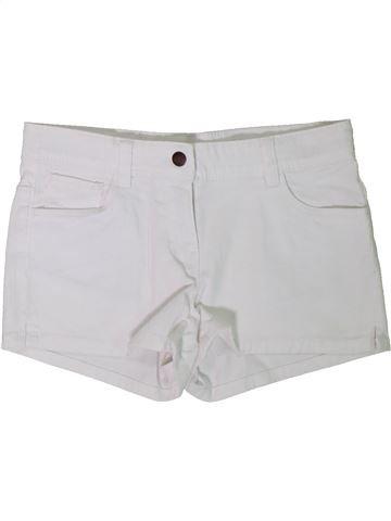 Short-Bermudas niña KIABI blanco 12 años verano #1308272_1
