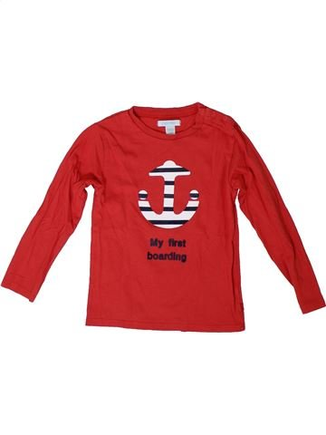 Camiseta de manga larga niño OKAIDI rojo 3 años invierno #1308337_1