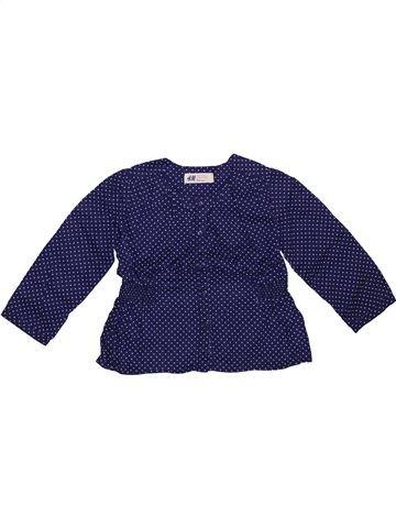 Blusa de manga larga niña H&M azul 3 años invierno #1308961_1