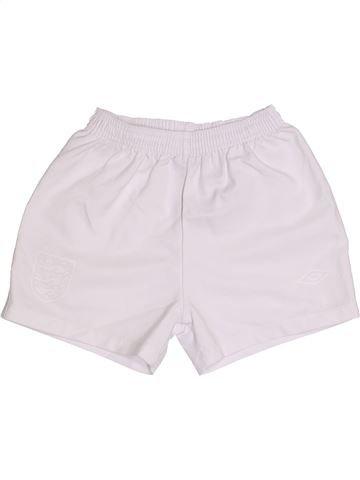 Pantalon corto deportivos niño UMBRO blanco 5 años verano #1309448_1