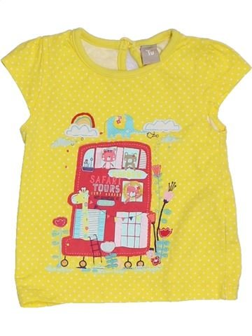 Camiseta de manga corta niña TU amarillo 9 meses verano #1309767_1