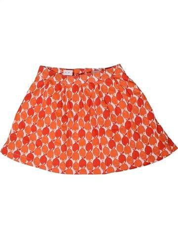 Falda niña OKAIDI naranja 8 años verano #1310422_1