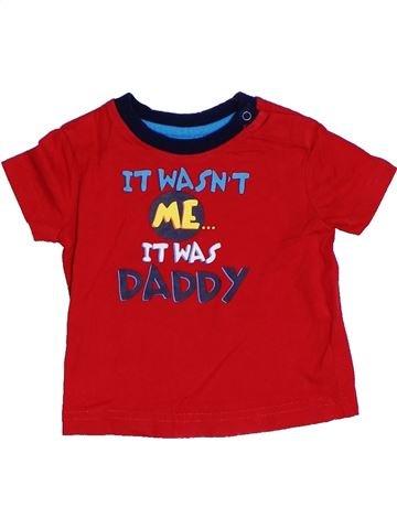 Camiseta de manga corta niño GEORGE rojo 6 meses verano #1310502_1