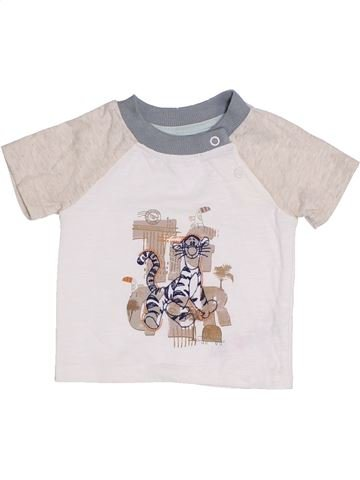 Camiseta de manga corta niño GEORGE blanco 1 mes verano #1310639_1