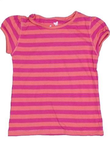 Camiseta de manga corta niña TU rosa 5 años verano #1310795_1