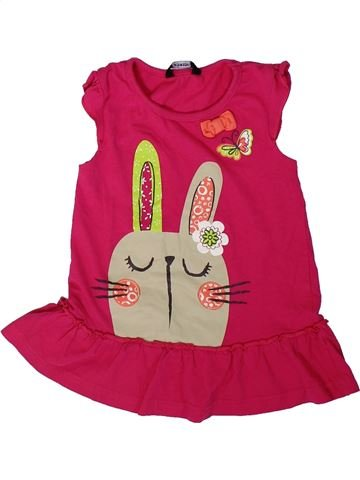 Camiseta sin mangas niña GEORGE rosa 3 años verano #1311061_1