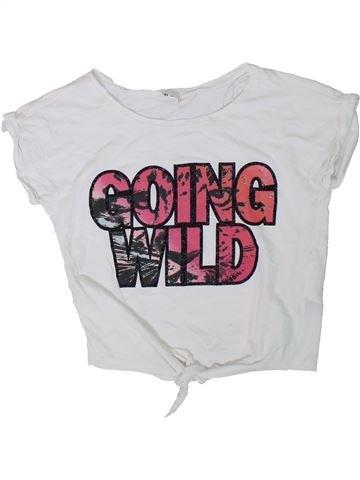 Camiseta de manga corta niña H&M blanco 10 años verano #1311528_1