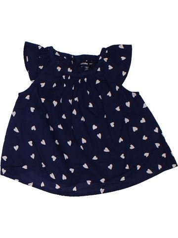 Blusa de manga corta niña GAP negro 6 meses verano #1311555_1