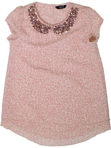 Blusa de manga corta niña GEORGE rosa 9 años verano #1311644_1