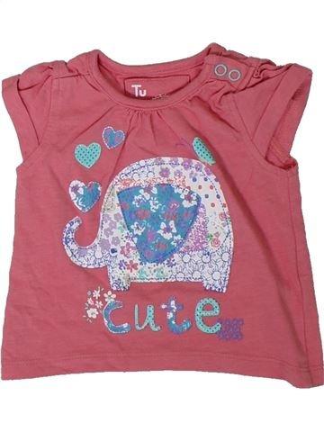 Camiseta de manga corta niña TU rosa 3 meses verano #1311758_1