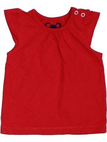 Camiseta de manga corta niña TU rojo 9 meses verano #1311943_1