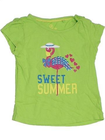 T-shirt manches courtes fille LUPILU vert 3 ans été #1313809_1