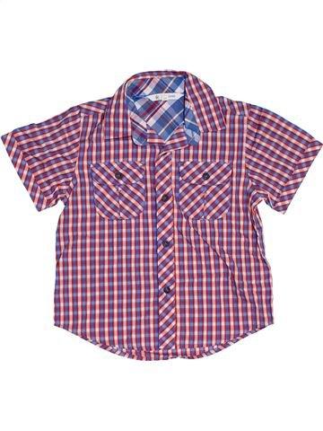 Chemise manches courtes garçon JOHN LEWIS violet 3 ans été #1313939_1