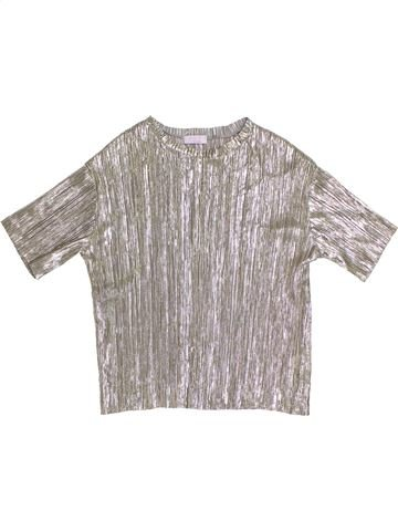 T-shirt manches courtes fille KYLIE gris 12 ans été #1314018_1