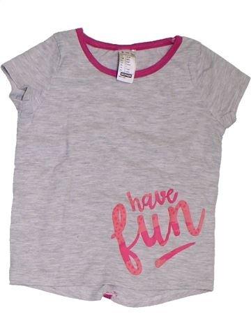 T-shirt manches courtes fille DÉCATHLON gris 3 ans été #1321422_1