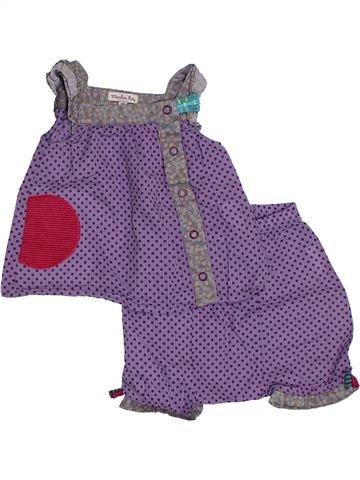 Ensemble fille MOULIN ROTY violet 3 mois été #1321784_1