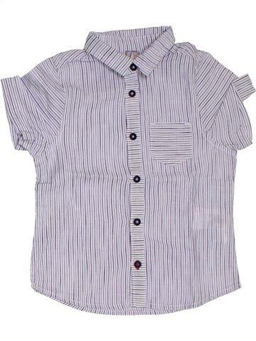 Chemise manches courtes garçon ORCHESTRA violet 3 ans été #1322710_1