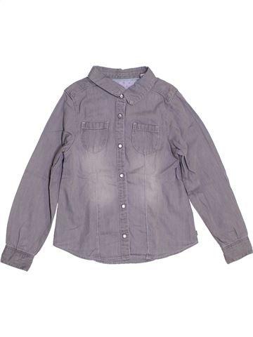 Blouse manches longues fille OKAIDI gris 5 ans hiver #1323190_1