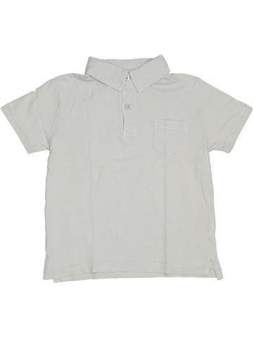 Polo manches courtes garçon CFK blanc 5 ans été #1323283_1