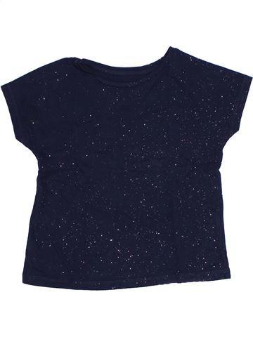 T-shirt manches courtes fille MONOPRIX bleu 5 ans été #1323325_1