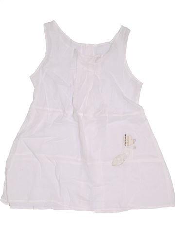 Blouse manches courtes fille CATIMINI blanc 8 ans été #1323379_1