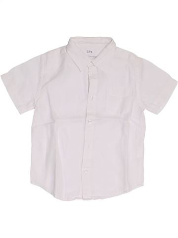 Chemise manches courtes garçon CFK blanc 4 ans été #1324027_1